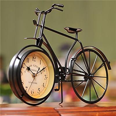 HSRG Reloj Silent Creativo Vintage Bicicleta Modelado Dormitorio ...