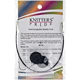 "Knitter's Pride Interchangeable Cords 8"" (16"" w/tips), Black"
