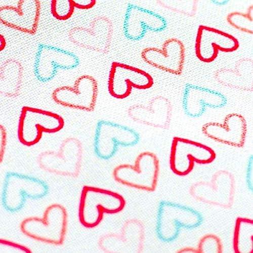 Pepi Leti 685843715566 Parure de lit pour enfant Motif cœurs Multicolore