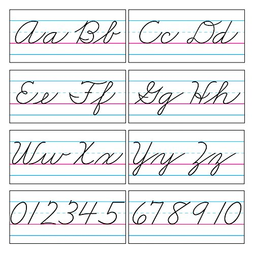 TREND enterprises, Inc. Basic Alphabet Zaner-Bloser Cursive Bulletin Board Set