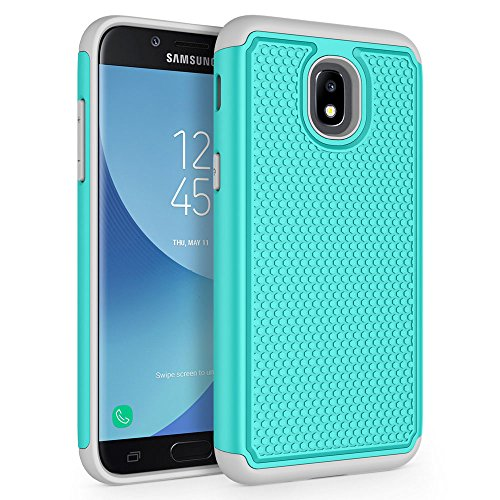 Case for Samsung Galaxy J3 2018/J3 V 2018/J3 Achieve/Express Prime 3/Amp Prime 3/J3 Eclipse 2/J3 Prime 2/J3 Star/J3 Orbit/Sol 3/J3 Aura/J3 Emerge 2018, SYONER [Shockproof] Phone Case Cover [Turquoise]
