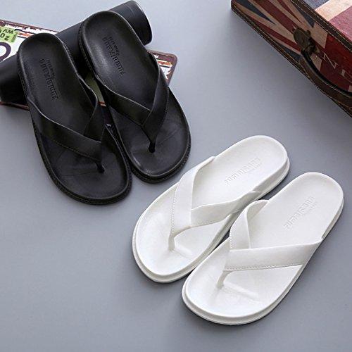 Zapatillas Antideslizante Summer Clip Goma Resistentes Sandalias de Flops Flip Desgaste Home Toes Beach Baño al Blanco Pantuflas Men's Suela vRvqIr