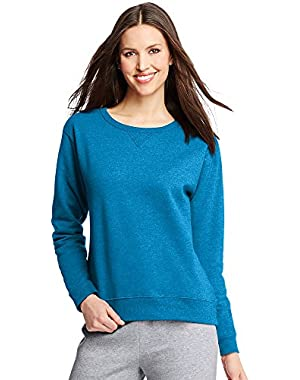 Hanes ComfortSoft EcoSmart Women's Crewneck Sweatshirt_Deep Dive Heather