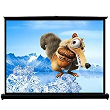 50 Inch Widescreen Projector Screen Home Theater Cinema Presentation Platform 4:3 Aspect Ratio Projection Screen Suitable for HDTV Sports Movies Video Games Office Education PowerPoint Presentations