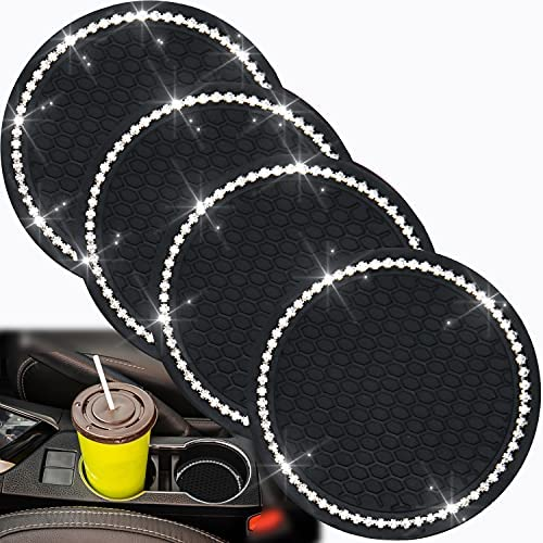 4 Pack Bling Car Coasters, Bling Cup Holder Coasters...