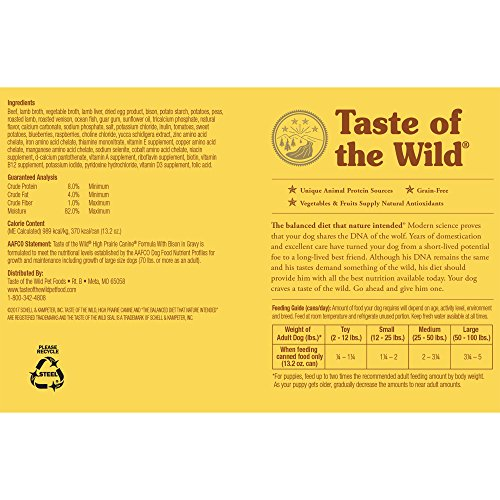 Taste Of The Wild Dog Food Reviews >> Taste Of The Wild High Prairie Canned Dog Food 12 13 2oz By