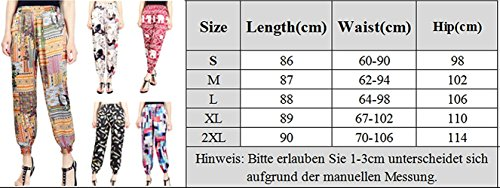 Tempo Waist Di Estivi Baggy Lunghe Trousers Lanterna High Pureed Spiaggia Fashion Elegante Liberochic Stoffa Stampate Donna Pantaloni 0HqP8