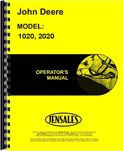 2020 Diesel - John Deere 1020 Tractor (SN# 0-62783) (Gas and Diesel ) | 2020 Tractor (SN# 0-62925) (Gas and Diesel ) Tractor Operators Manual (JD-O-OMT26335)