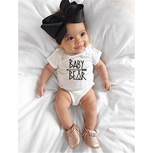 Juqilu Ours Manches Chemise Courtes White Shirt Bb Hommes Femmes Coton Imprimer Famille Tops T Lettre Baby Correspondant Enfants rgIxHqr