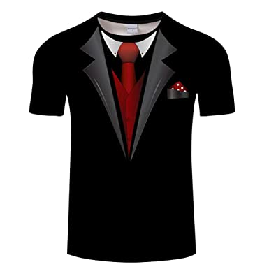 Hombres Camiseta 3D Patrones Impresos Manga Corta Camiseta Camisa ...