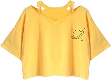 Crop Top para Mujer, Verano, Adolescente, niña, piña, Bordado ...