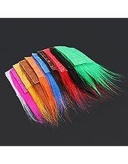 Tigofly 10 st 8 x 8 cm 10 färger Furabou långt hår hantverk päls syntetisk fiber streamer svans vinge flugfiske bindmaterial