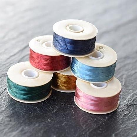 2 Bobbins of Nymo Nylon Beading Thread-Evergreen Size D