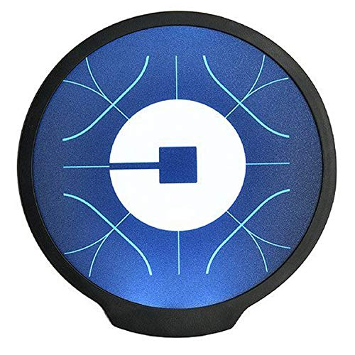 Uber Sign, LED Logo Light Sticker Glow Decal Accessories Removable,Uber Glowing Signs for Car Taxi Driver, Uber Lyft Light up Dry Battery Power by WAIWAI