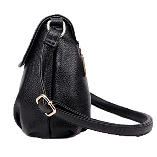 Pelle Gli Tracolla Le Donne Bag Anziani Black Borsa A Zhi Wu In Messenger HwaAqq