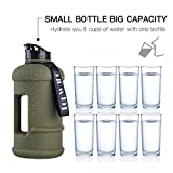 2.2L Half Gallon and 1.3L Big Capacity Large Water Bottle...