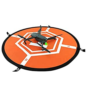 Virhuck RC Drone Landing Pad, Fast-Fold Helicopter Landing Pad for DJI Mavic Pro, Phantom 1/2/3/4 Pro, Inspire 2/1, 3DR Solo, Syma or Other Quadcopter, Orange