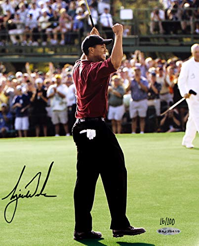 Tiger Woods Signed Autographed 2002 Masters 8x10 Photo - Limited Edition