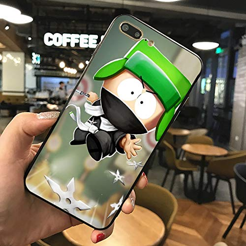 1 piece HULINFENG south park cell phone Case For iphone 6 5s X 7 8 Plus Black silicone case For Samsung s5 6 s7 edge s8 s9 plus Case]()