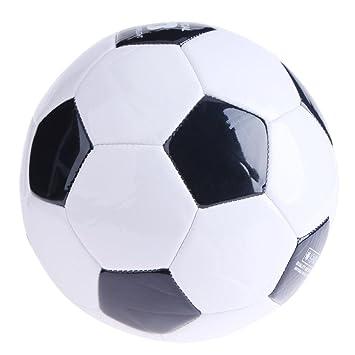 Balón de Fútbol para Entrenamiento, Color Negro y Blanco: Amazon ...