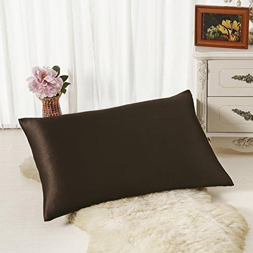 ALASKA BEAR - Natural Silk Pillowcase, Hypoallergenic, 19 momme, 600 thread count 100 percent Mulberry Silk, Standard Size with hidden zipper (1, (Luxury Handmade Chocolates)