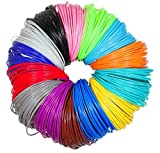 Imagery3D (20 In 1) 20 Colors, 5M Each Total 100M, 4 X Glow In The Dark, 1.75mm PLA Filaments 3D Pen Printing Material