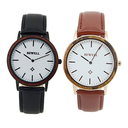 Bewell-Chic-Handmade-Unisex-Wooden-Watch-with-Leather-Strap-Waterproof-Unique-Analog-Quartz-Wrist-Watches