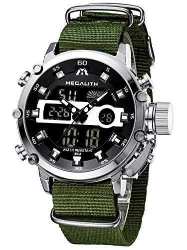 MEGALITH Mens Sports Watches Military Digital Gents Watch Chronograph Waterproof Wrist Watches for Man Boys Kids with… 1