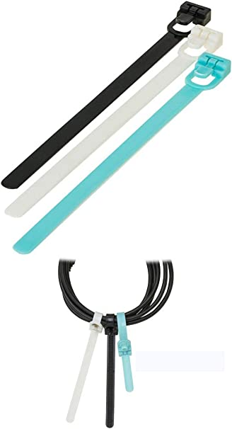Reusable Cable Ties Nylon Zip Tie Wraps Strong All Sizes /& Colours Releasable