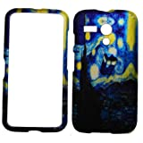 IMAGITOUCH(TM) 3-Item Combo For Motorola G Moto G XT1032 Rubberized Design Case Cover Protector - Doctor Who Tardis Police Box Starry Night