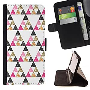 Jordan Colourful Shop - pyramid shape pattern gold For Sony Xperia Z1 Compact D5503 - Leather Case Absorci???¡¯???€????€???????&bdquo