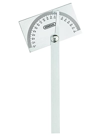 General Tools 17 Square Head Stainless Steel Angle Protractor 0 To