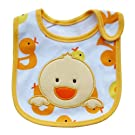 Cute Cartoon Pattern 3 Layer Toddler Baby Waterproof Saliva Towel Baby Bibs (Chick Pattern)