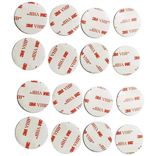MU-CN 16 PCS PCS Replacement Adhesive Stickers for pop Phone Stand Mount Double Sided Adhesive Pads Round Stickers Sticky for pop Phone Clip (White)