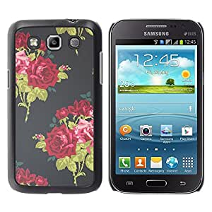 Be Good Phone Accessory // Dura Cáscara cubierta Protectora Caso Carcasa Funda de Protección para Samsung Galaxy Win I8550 I8552 Grand Quattro // Vintage Dress Fashion Flowers