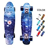 yotruth Penny Board Mini Cruiser Skateboard 22'' (Galaxy)