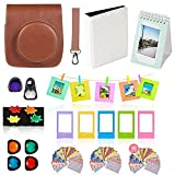 Fujifilm Instax Mini 90 Camera Accessories Bundle,11 Piece Set Includes:Mini 90 Camera Case + Strap, Photo Album, Selfie Lens,4 Color Lenses, Hanging + Photo Frames, Fridge Magnets, Stickers.
