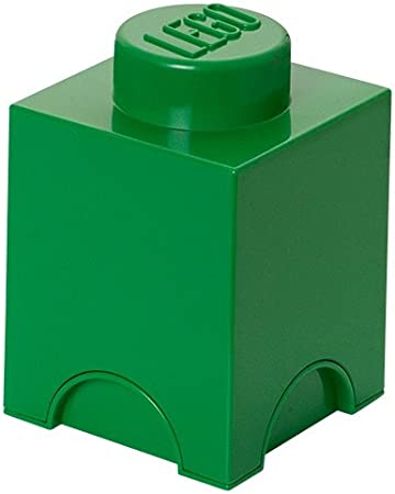 Bo/îte de rangement empilable vert 1,2 l Brique de rangement LEGO 1 plot