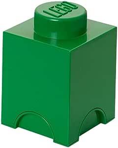 Lego 40011734 - Caja en forma de bloque de lego 1, color verde ...