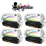 InkyDoo Compatible TN-221/ TN-255 Hi-Yield 4 Color Toner Replacement Set- for Brother HL-3140, HL-3170, MFC-9130, MFC-9130CW