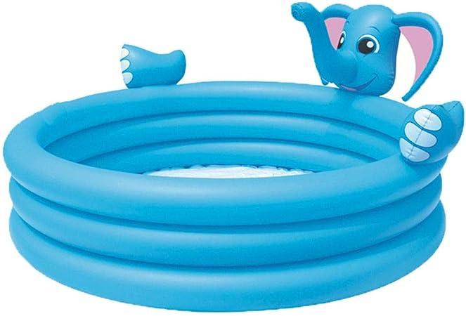 HEROTIGH Piscinas Hinchables Bebé Elefante Tres Anillos Piscina con Rociador De Agua Bebé Inflable Niños 152X152X74Cm Inflatable Pool: Amazon.es: Hogar