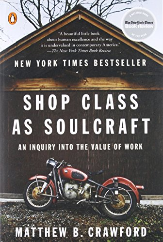 Shop Class as Soulcraft: An Inquiry into the Value of - Shop Rte