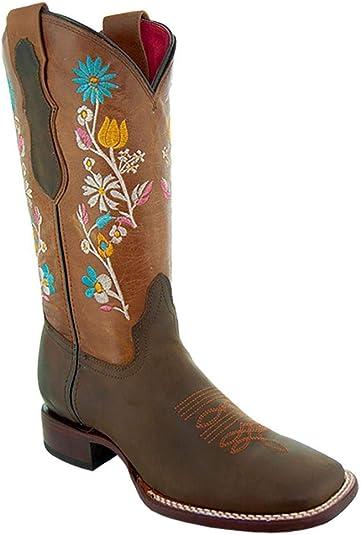 despierta Intento desfile  Amazon.com: Soto M9004 - Botas de vaquera para mujer, punta cuadrada ancha:  Shoes