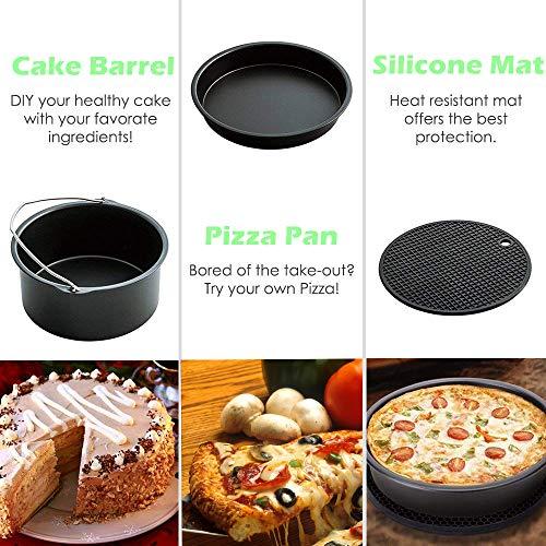 Air Fryer Accessories Recipe Cookbook for Growise Phillips Air Fryer 3.7QT 5.3QT 5.8QT Fryer Accessories Set
