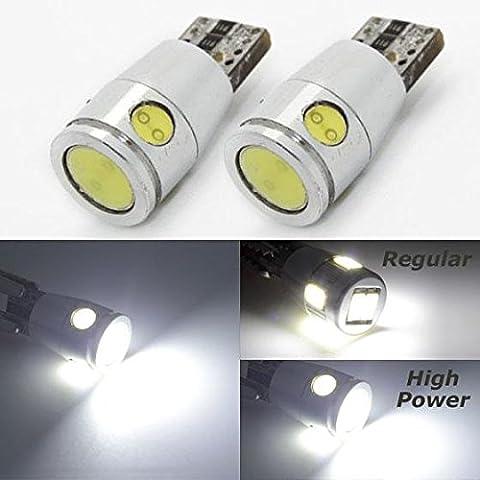 Partsam 2pcs white high power T10 CANBUS ERROR FREE LED LIGHT (Toyota Sienna Third Brake Light)