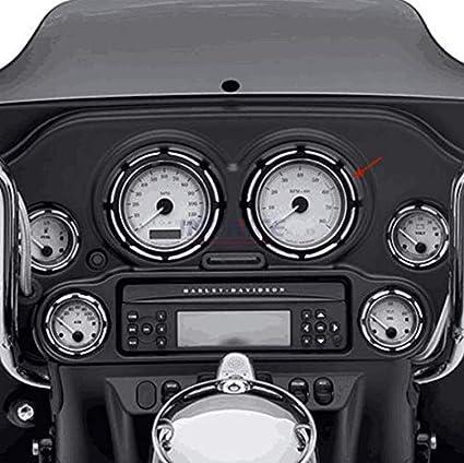 8pcs Chrom Tacho Gauges Blenden Horn Abdeckung Für Harley Electra Glide 96-13 #D