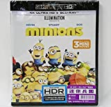 Minions (4K UHD + Region Free Blu-Ray) (Region Free) (Hong Kong Version / English Language. Mandarin & Cantonese Dubbed) 迷你兵團
