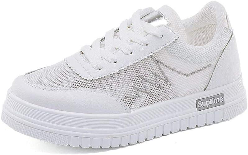 Zapatillas para Mujer Blancas, Transpirables, Zapatillas para ...