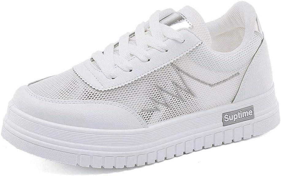 Zapatillas para Mujer Blancas, Transpirables, Zapatillas para Correr, ultraligeras, Zapatillas de Deporte, Zapatillas de Deporte con Cordones, Atletismo, Zapatillas de Cross Country,@Blanco_40: Amazon.es: Zapatos y complementos