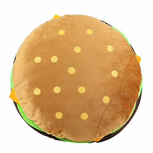 cheeseburger pillow fluffy stuffed hamburger pillow soft burger food plush toy gift for kids halloween costume